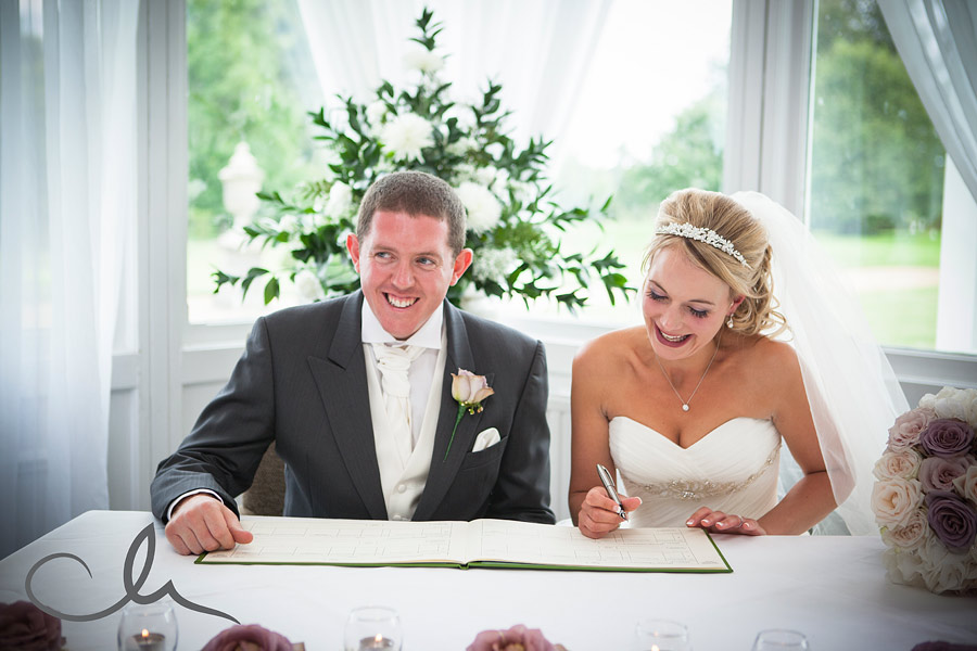 signing the register at Chilston Park