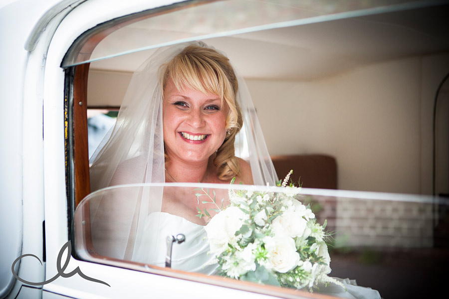 Brides arrival at St Martin's Church Canterbury Kent