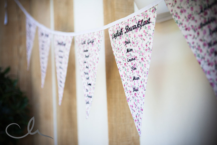 Table plan for a wedding breakfast at The Old Kent Barn
