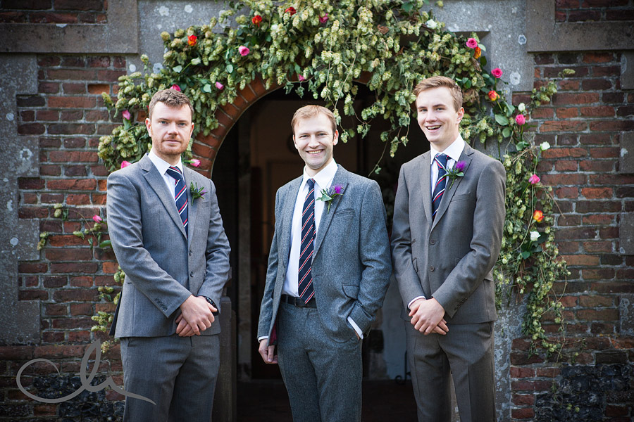 Groom and Best Men at Kent Church