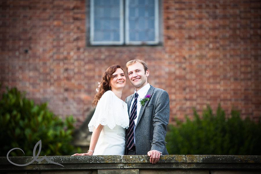 Bride & Groom at Port Lympne Mansion
