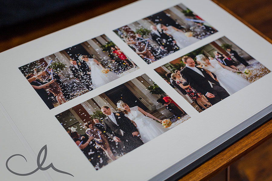 Mat wedding album designed by Catherine Hill Photography