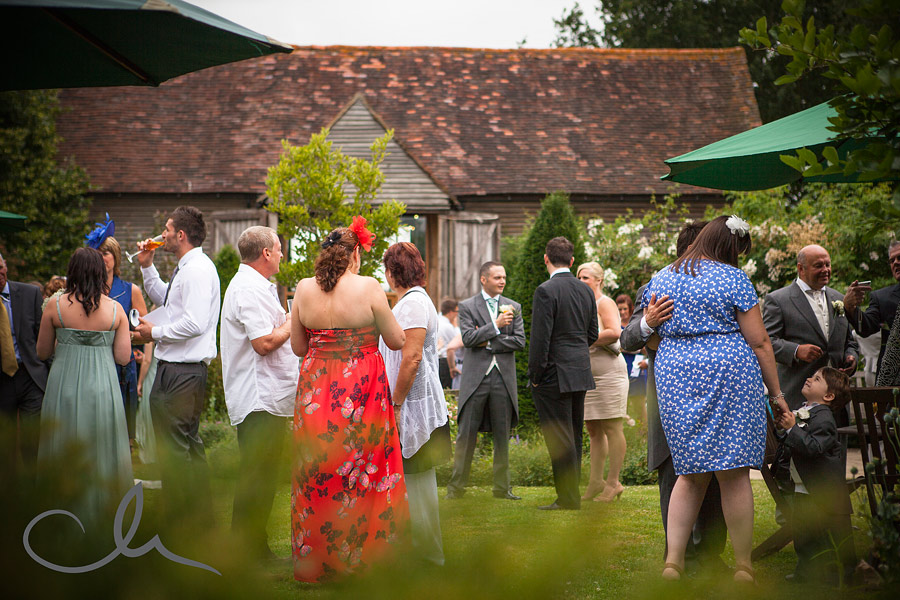 wedding party at The English Wine Centre in Sussex