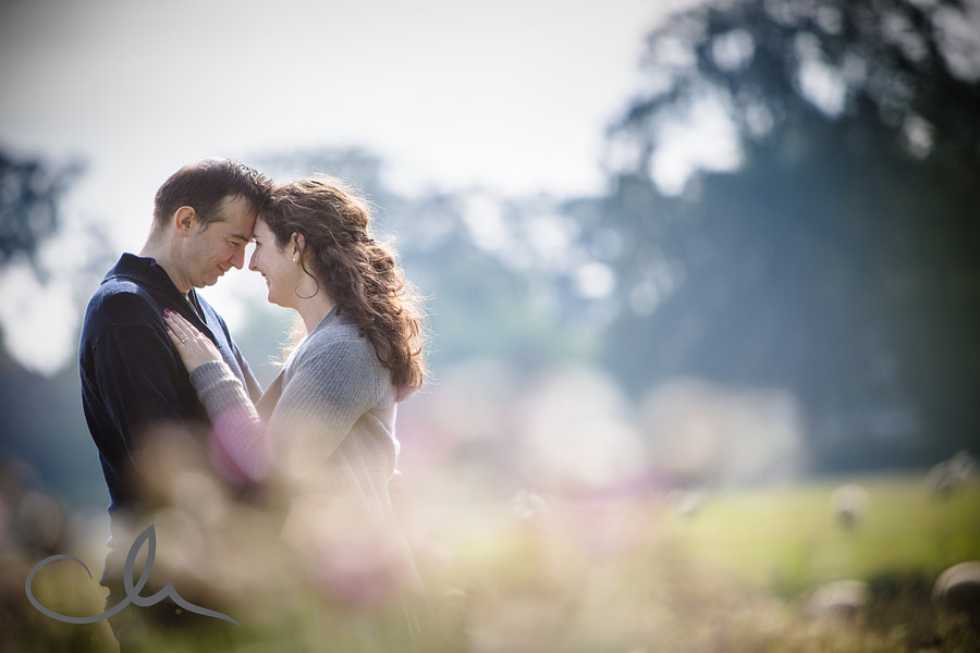 portrait shot of couple near Bishopsbourne Kent