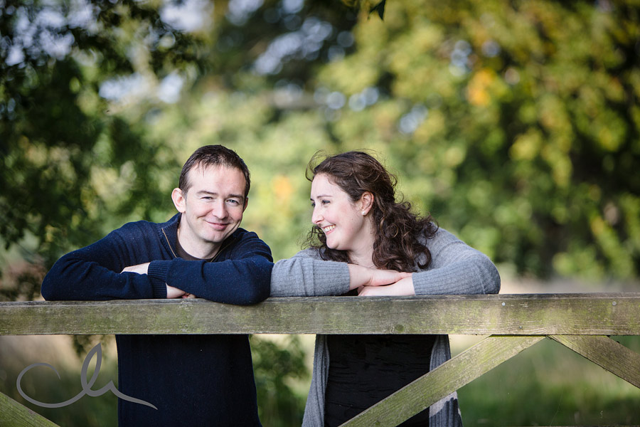 photograph of couple near a gate in Bridge Kent