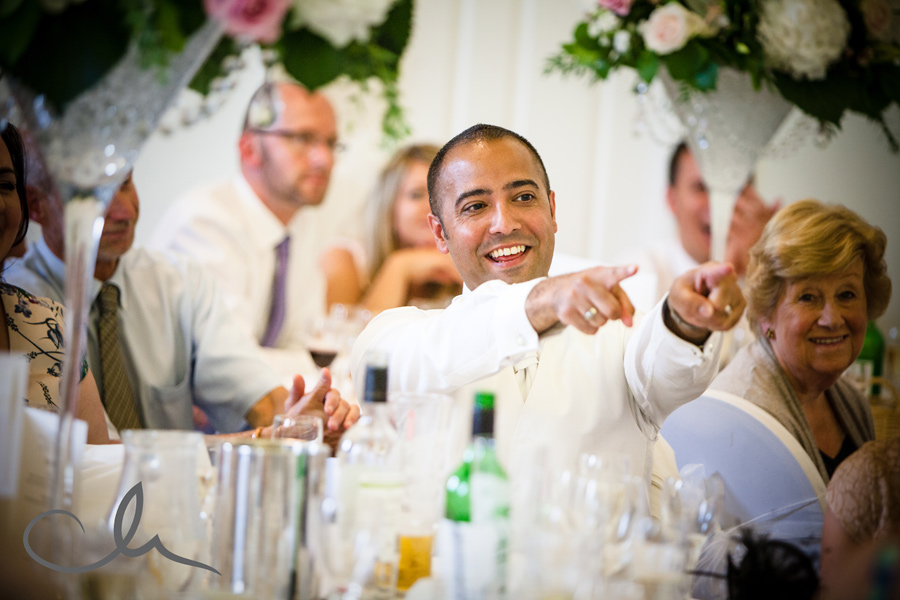 speeches at wedding at Sundridge Manor Park Hotel in Bromley Kent