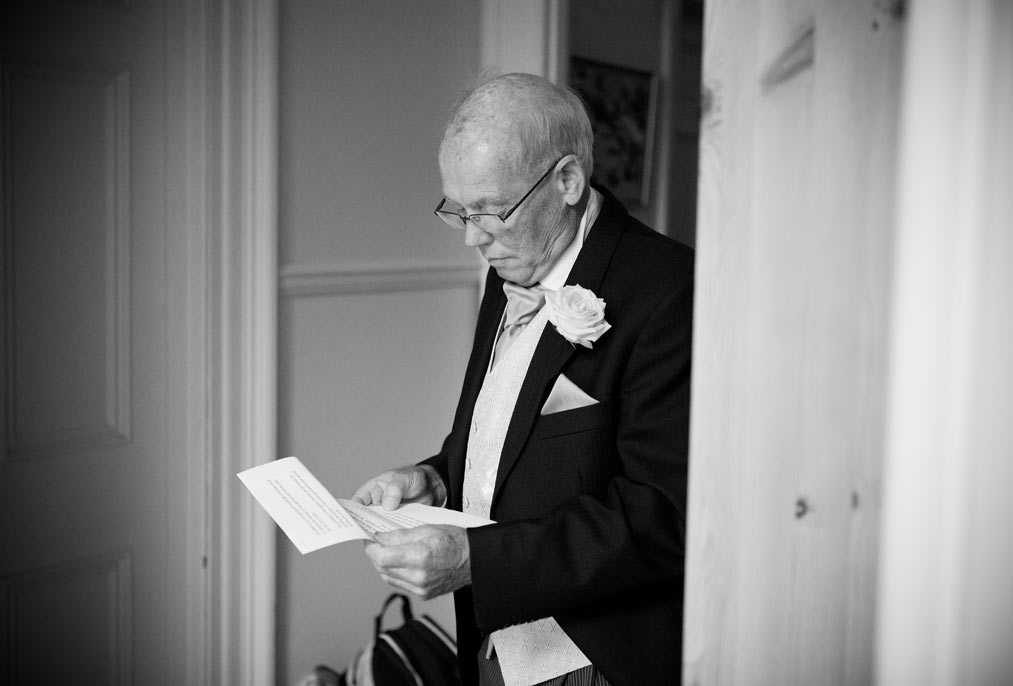 father of the bride rehearsing his speech at mount ephraim