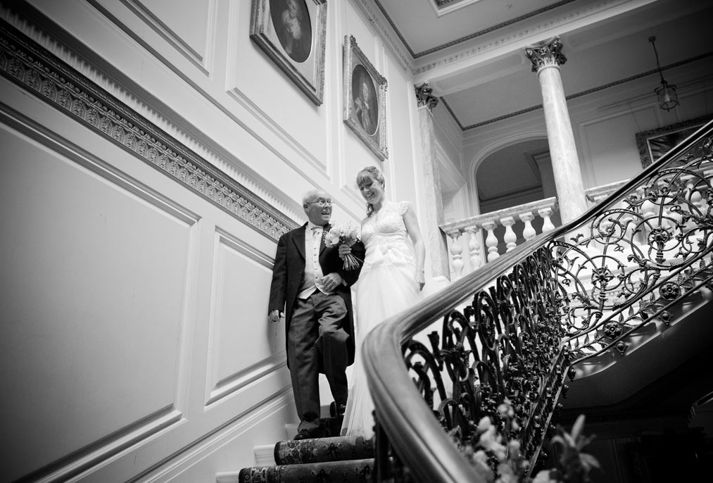 bride with her father at Mount Ephraim kent