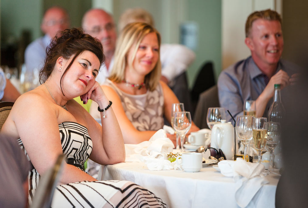 speeches at Wedding breakfast at L'Horizon Hotel Jersey
