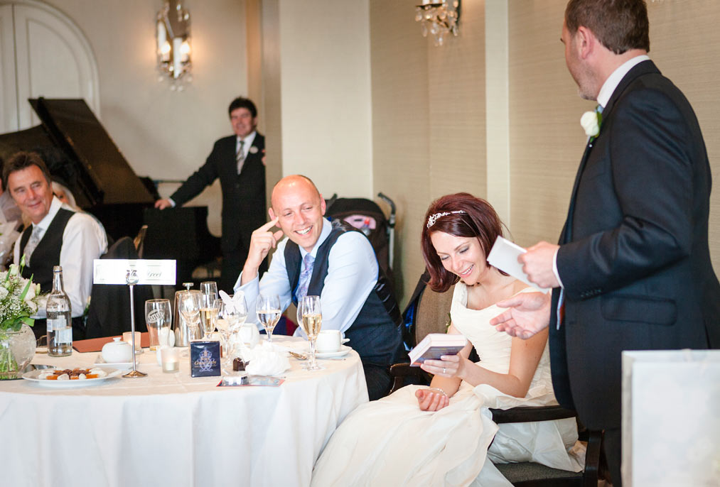 wedding speeches at L'Horizon Hotel