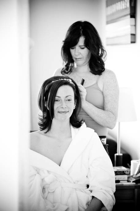 bridal preparation at L'Horizon Hotel Wedding venue jersey