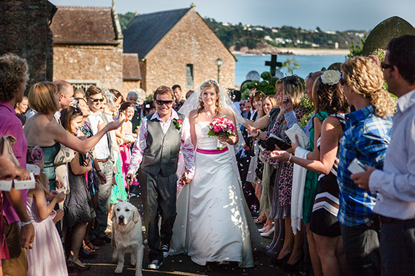 St Brelades Bay Church Wedding Ceremony