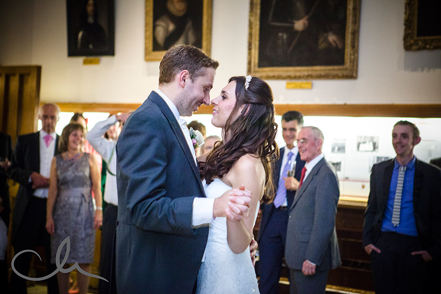 newlyweds first dance at Leeds Castle