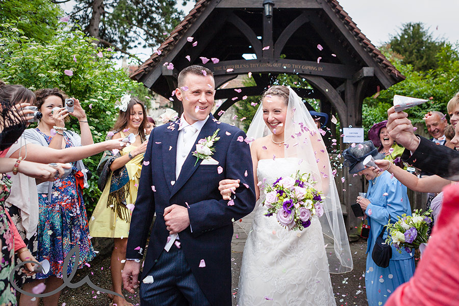 Whitstable Wedding Confetti Photo