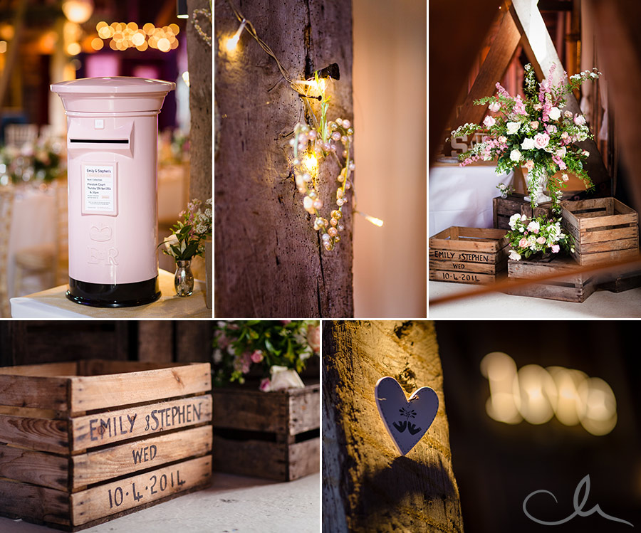 Wedding-breakfast-in-the-barn-at-Preston-Court-Kent