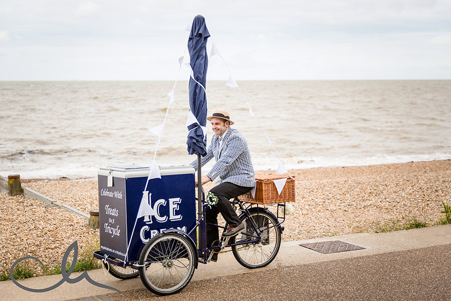 treats on a tricycle at beacon house wedding