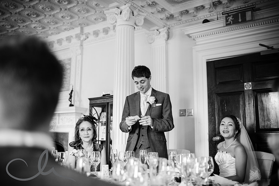 groom's speech at Chilston Park Hotel