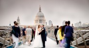 Millennium Bridge London Wedding photo