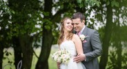 romantic newly wed wedding photography at The Old Kent Barn