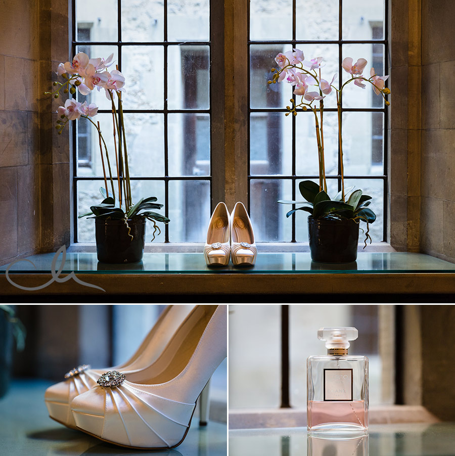 Brides-shoes-at-Lympne-Castle-Wedding-Venue