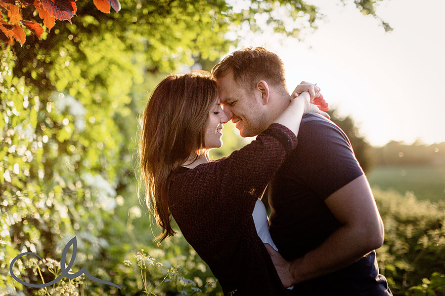 Amy and Matt's romantic portrait photography session.