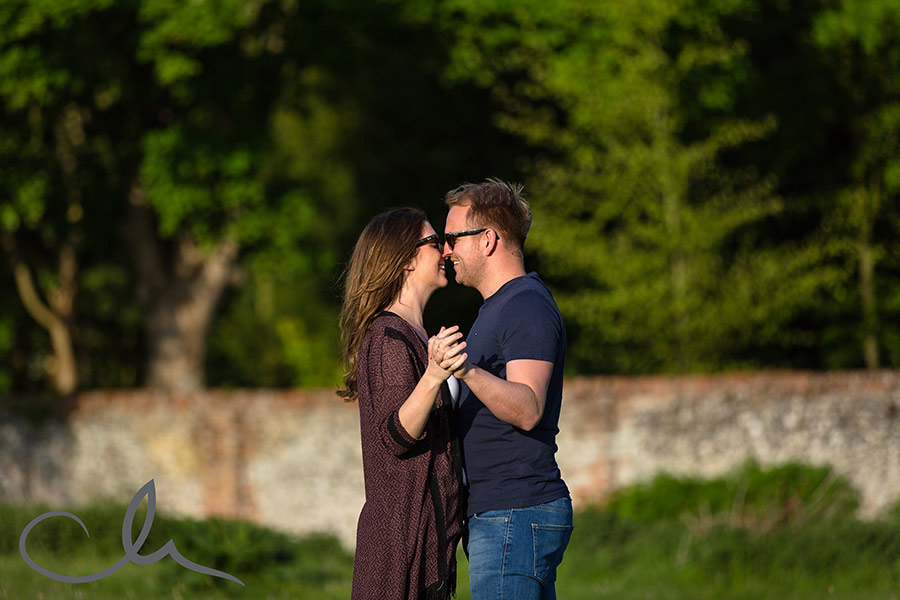 Amy & Matt's countryside engagement photos in Bridge, Kent