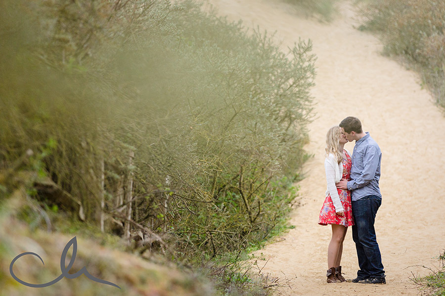 Camber Sands engagement portrait session