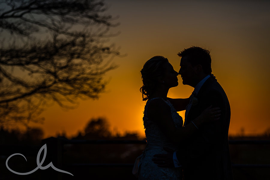 romantic sunset portrait shoot at Mount-Ephraim-Wedding