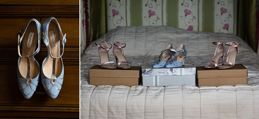 Brides-shoes-at-St-Augstine's-Priory-in-Kent