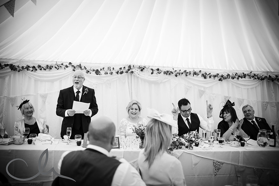 St Augustine's Priory Wedding Photography - the speeches