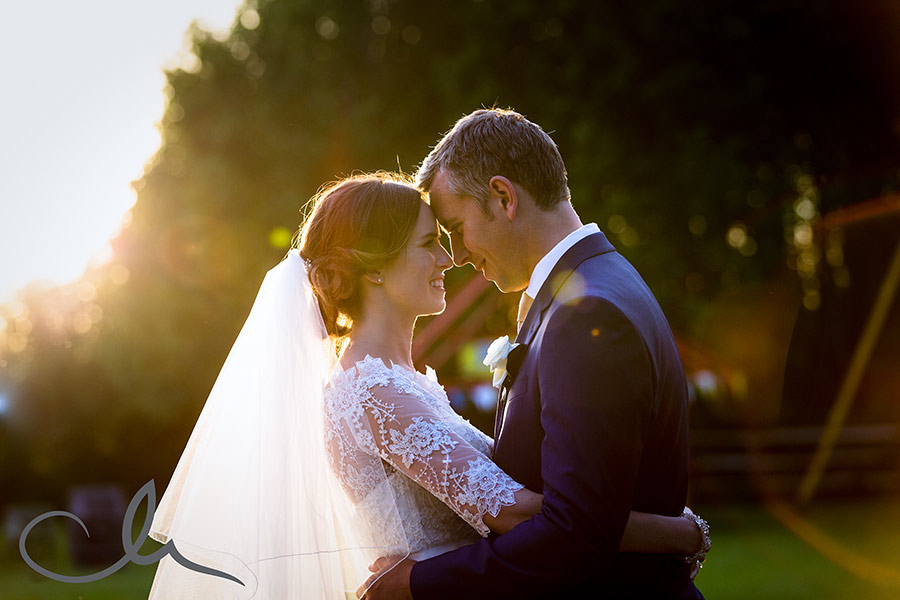 romantic newlywed photos at Marleybrook House Kent Wedding Venue