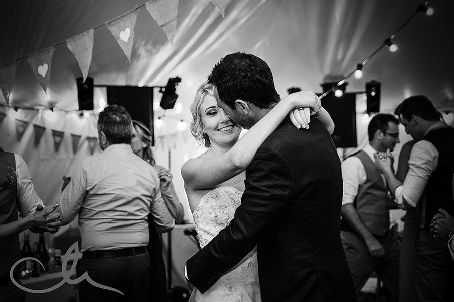 Kelli-&-Mark's- first dance at Great-Higham-Barn-Kent-Wedding