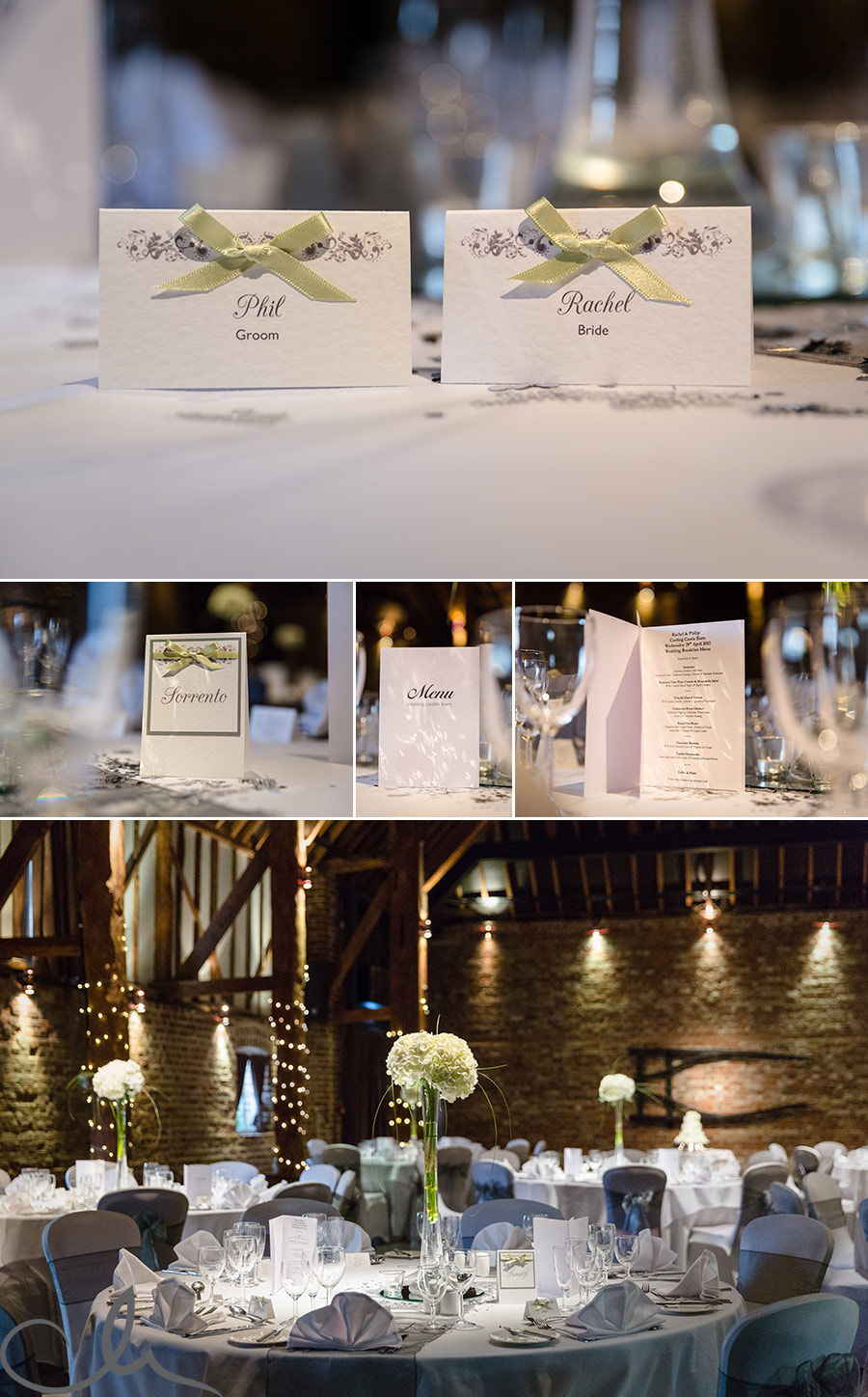 place-settings-and--table-decoration-ideas-at--Colling-Castle-Kent-wedding-venue