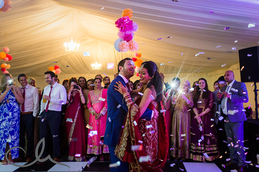 newleyweds have their first dance at theirSikh-Wedding-