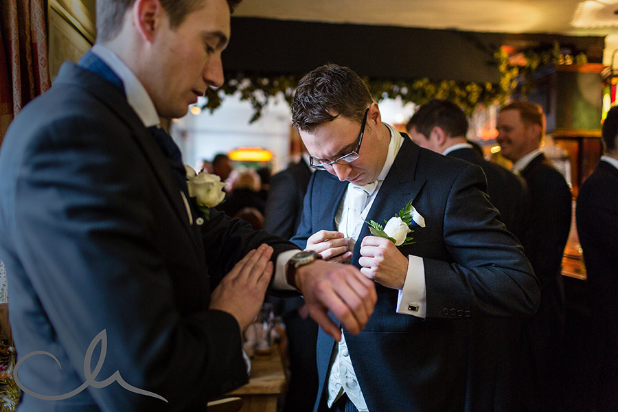 groom-gets-ready-for-his-chilham-church-wedding