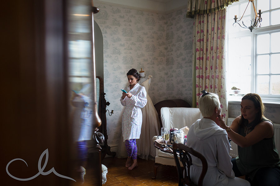 Bridal prep at St Augustine's Priory in Bilsington