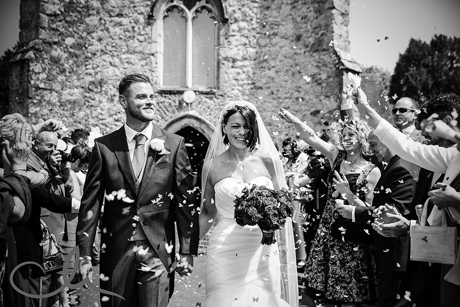 Charlotte & Liam's Confetti photograph at St Mary's Church Kennington