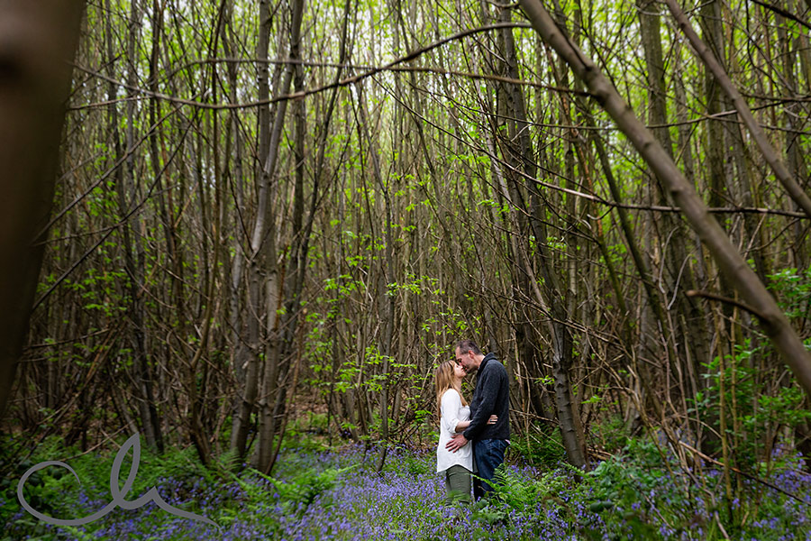 Derek-&-Caroline's-bluebell engagement shoot