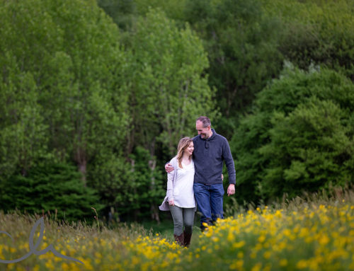 Derek & Caroline's Apple Blossom, Bluebell & Buttercup Engagement Shoot
