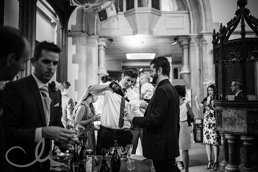 Skinners Hall London Wedding Photography - celebratory drinks were held at the rear of Christ Church Southgate after Nicola and Richard's ceremony