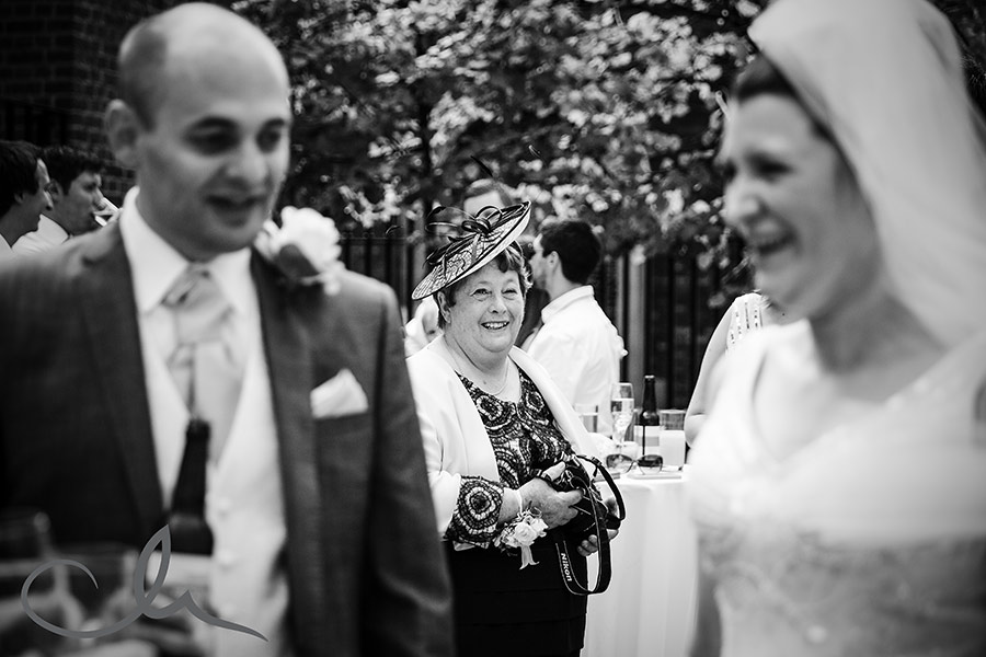 wedding reception photographs at Skinners Hall London