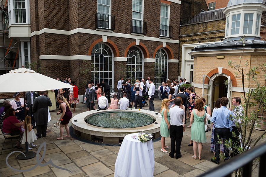 Skinners Hall London Wedding Photography - the champagne reception