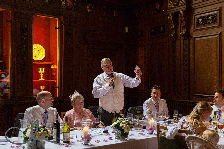 Skinners Hall London Wedding Photography - Father of the bride gives his speech