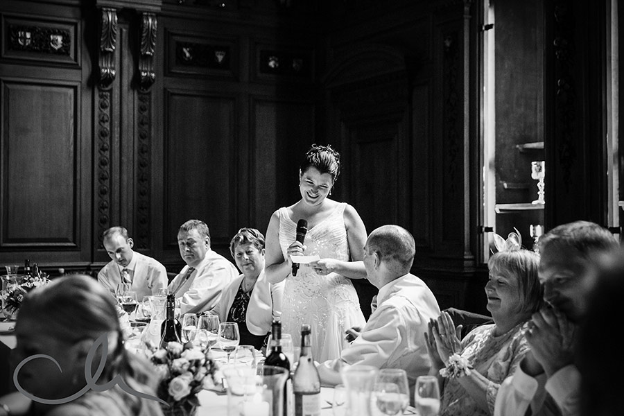 Skinners Hall London Wedding Photography - bride delivers her speech