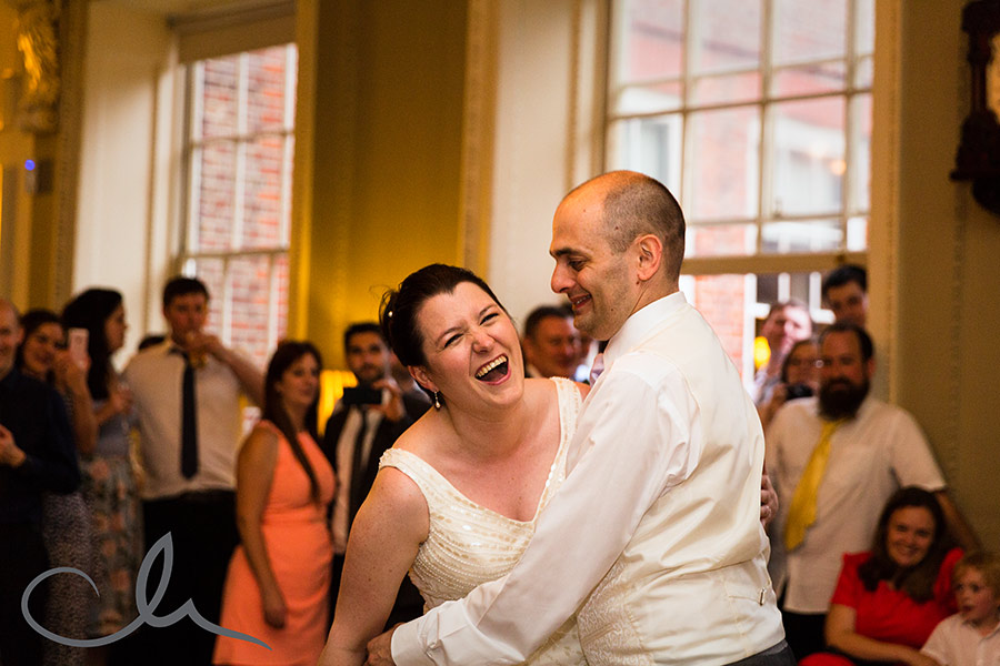 Skinners Hall London Wedding Photos - the newlyweds first dance