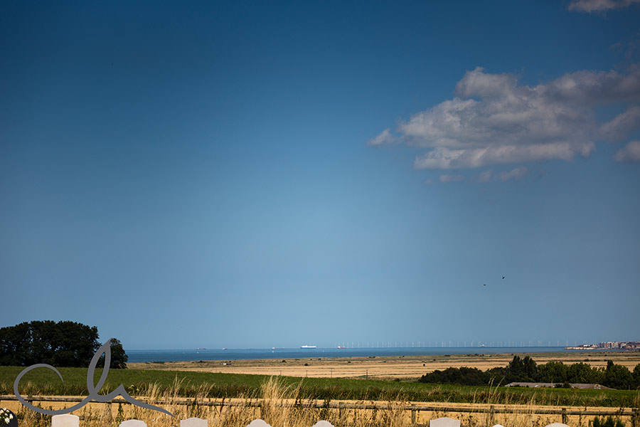view over reculver towers in Kent