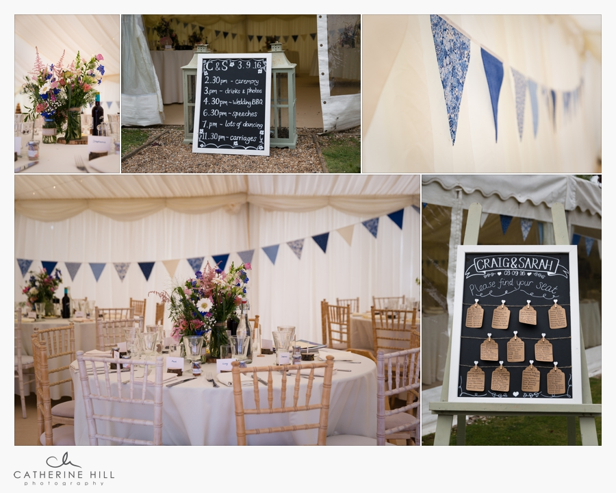 marquee wedding breakfast at Secret Garden Kent Wedding