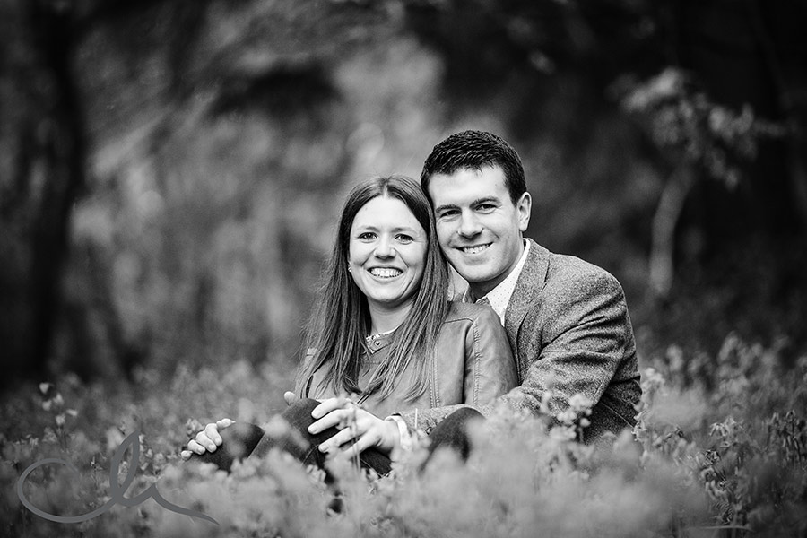 Pre-wed photography shoot in Bishopsbourne bluebell woods