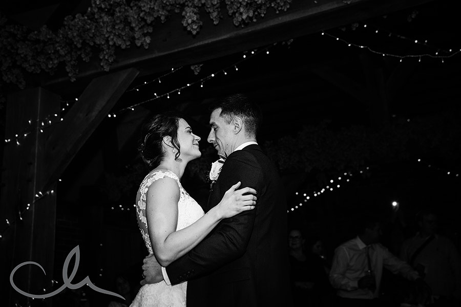 Kim & Alex's Ferry House Inn Wedding Photography - couple's first dance