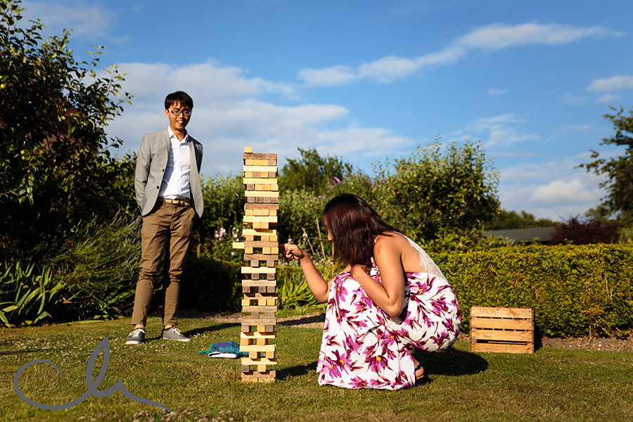 guests enjoy the lawn games at The Secret Garden Kent